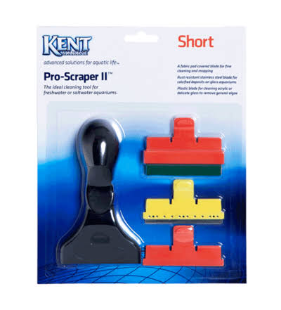 Kent Marine Pro Scraper II Short Handle 3 Blades Algae Cleaner