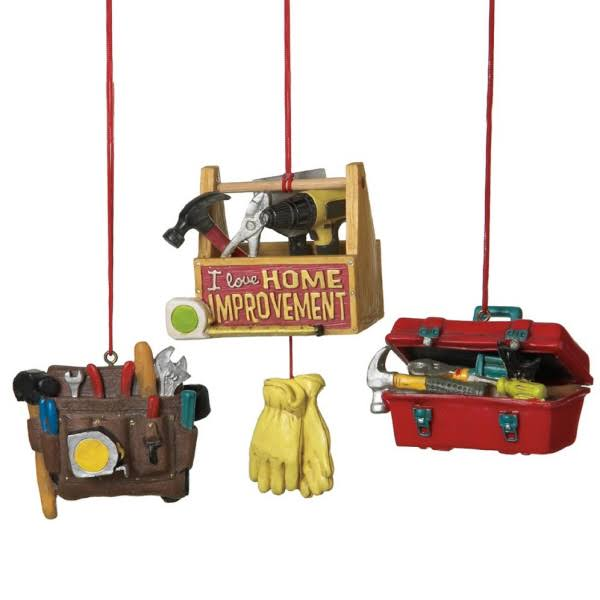 Midwest Assorted Tool Box Ornaments - Set of 3