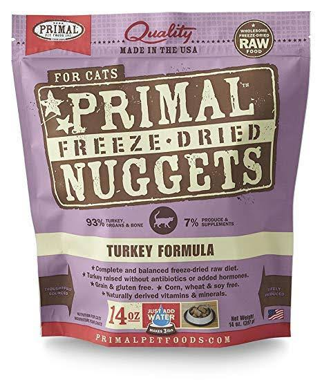 Primal Freeze-Dried Cat Food - Turkey, 14oz