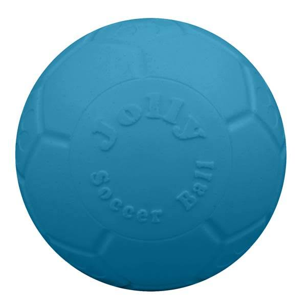 Jolly Pets Soccer Ball Dog Toy - Ocean Blue, Small-Medium, 6""