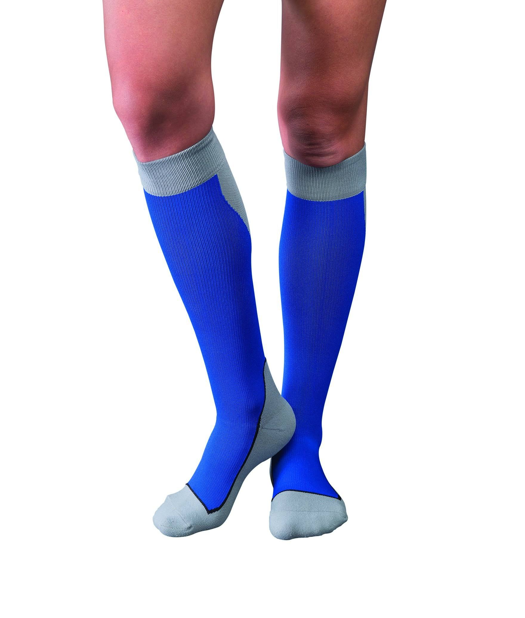 Jobst Sport 15-20 mmHg Knee High Socks Medium / Blue/Gray