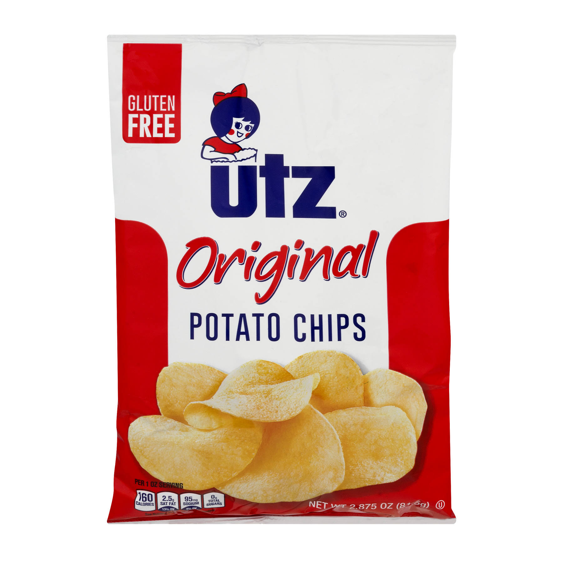 Utz Potato Chips - Crisp and Natural, 2.87oz