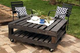 Build Your Own Outdoor Patio Table by Patio Furniture From Pallets Plans Outdoor Table With Pallets