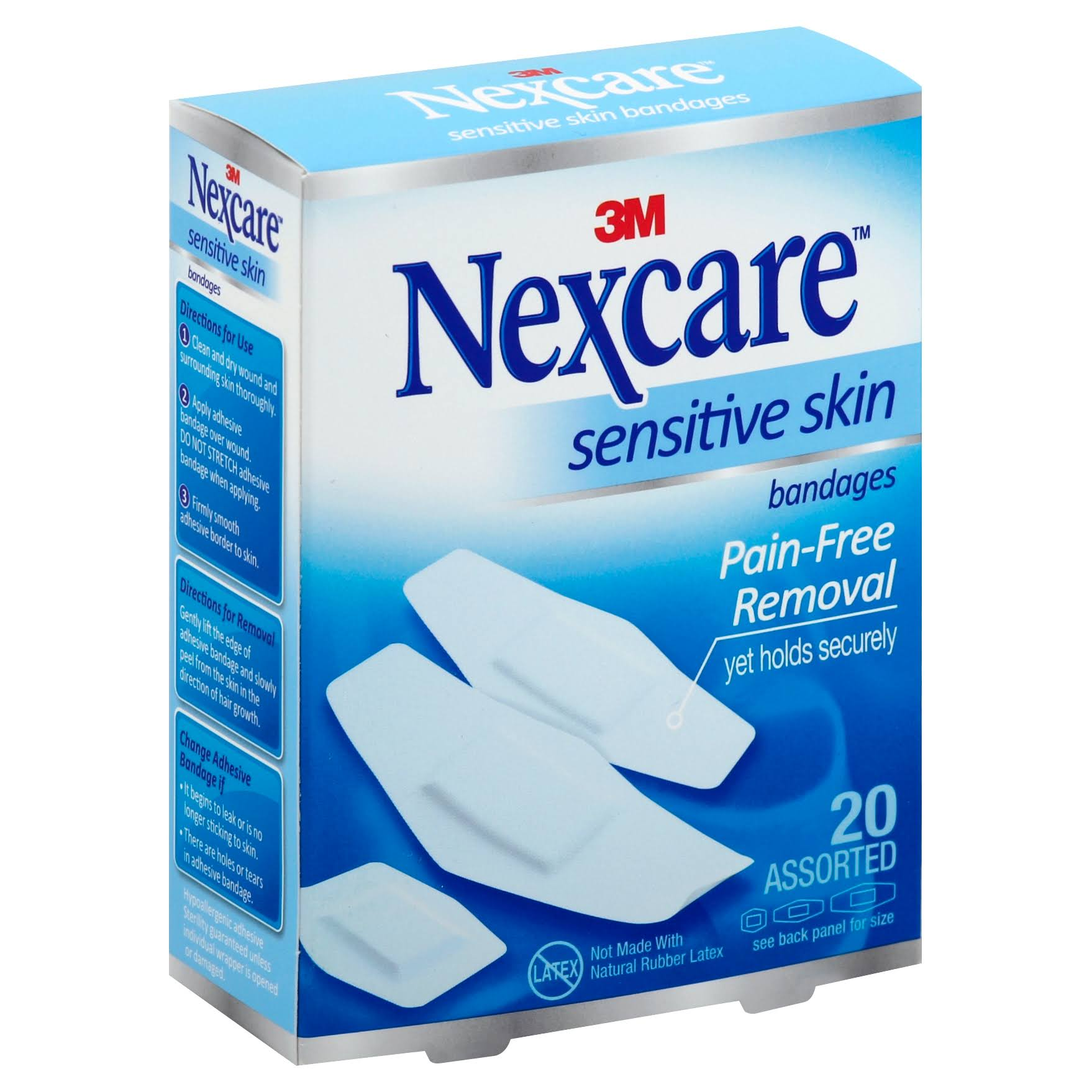 3M Nexcare Sensitive Skin Bandages - 20 Assorted