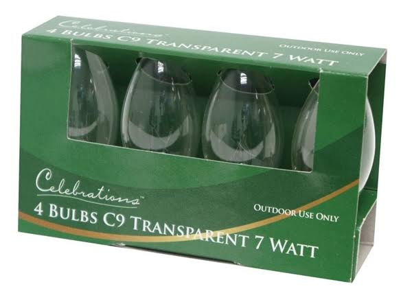 Celebrations C9 Clear Replacement Bulbs - 4ct, 7W