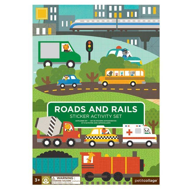 Petit Collage Sticker Activity Set - Roads and Rails