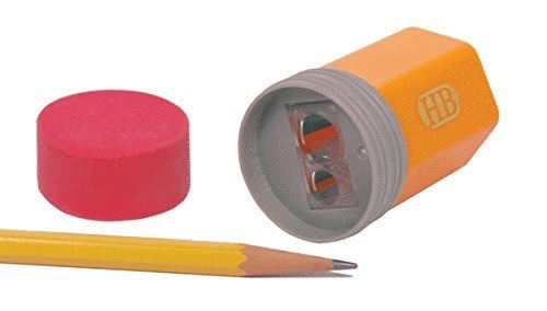 Streamline Pencil Top - Sharpener & Eraser Set