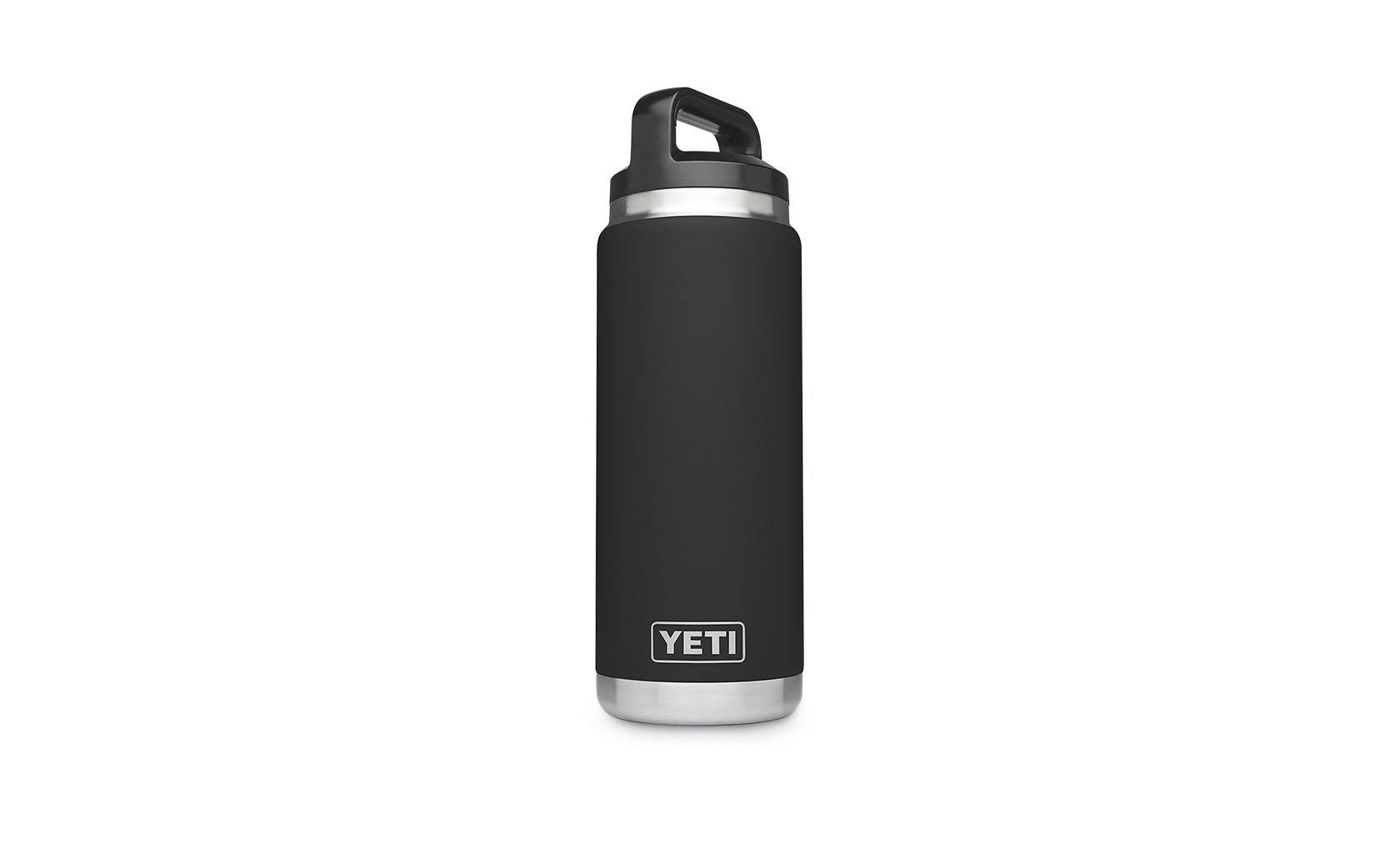 Yeti Rambler Vacuum Insulated Stainless Steel Bottle - with Cap, Black, 26oz