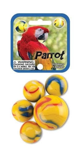 Parrot 24 Collectible Marbles
