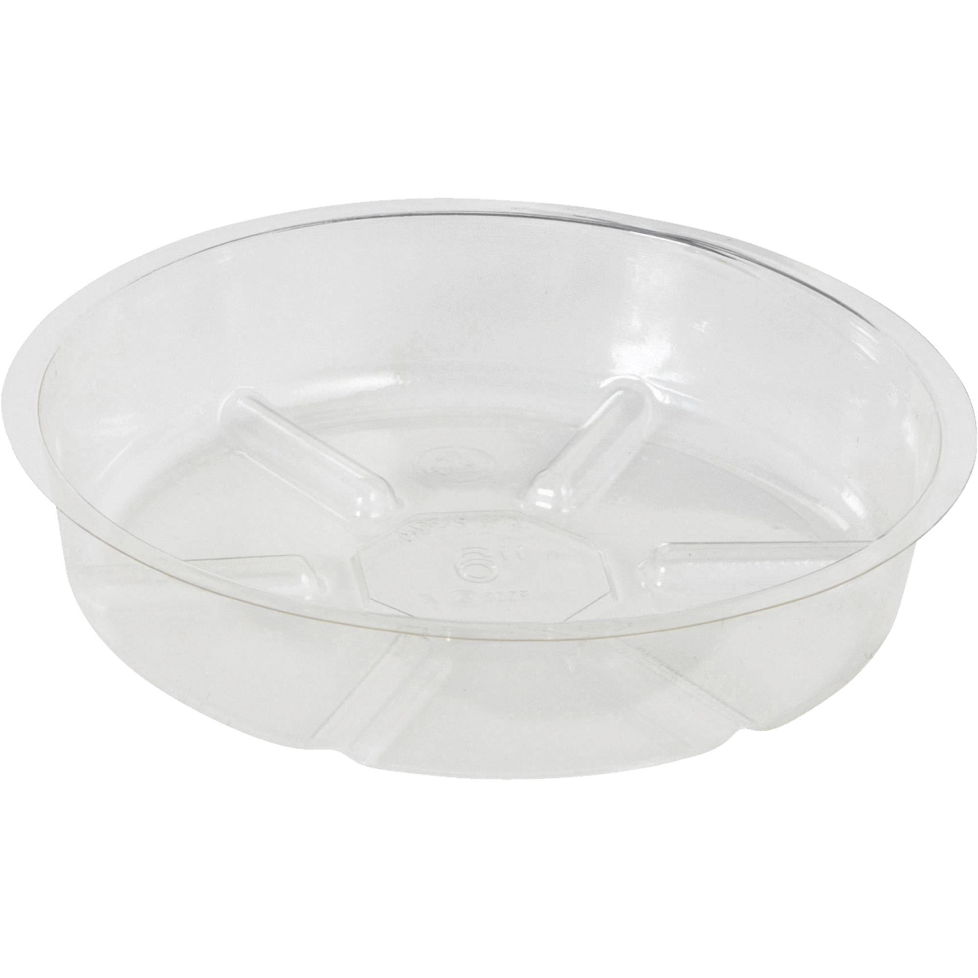 Sim Supply Vinyl Saucer - Clear, 6""