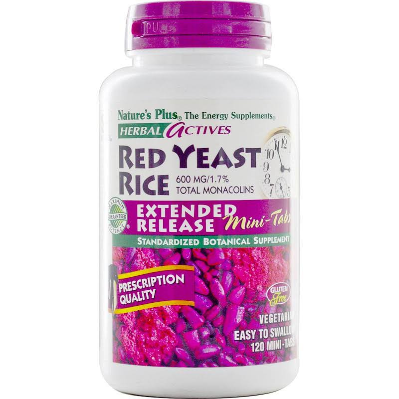 Nature's Plus - Herbal Actives Red Yeast Rice Dietary Supplement - 600mg, 120ct