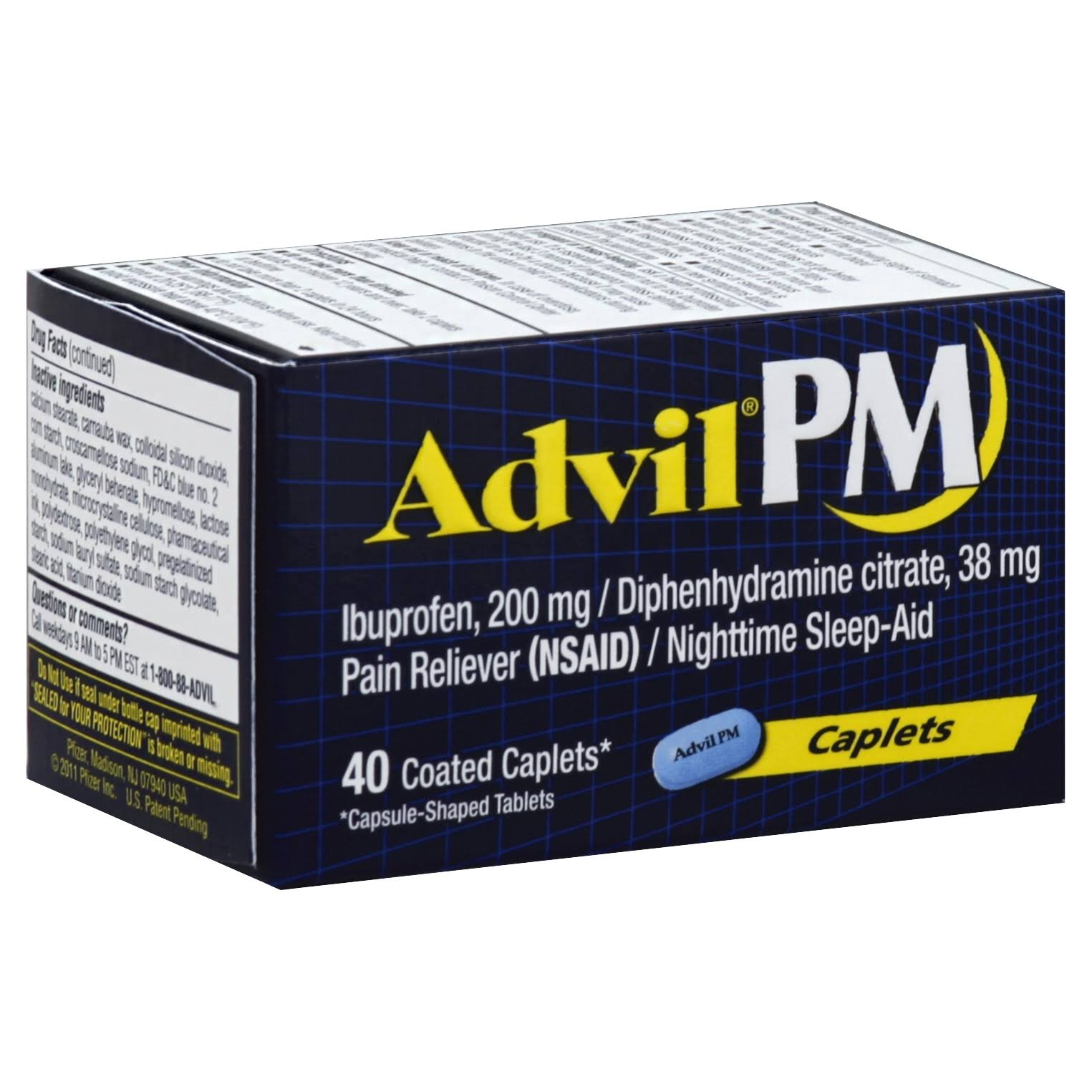 Advil PM Pain Reliver - 40 Coated Caplets