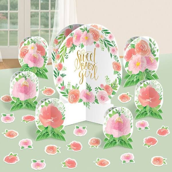 Floral Baby Centerpiece Table Decoration Kit