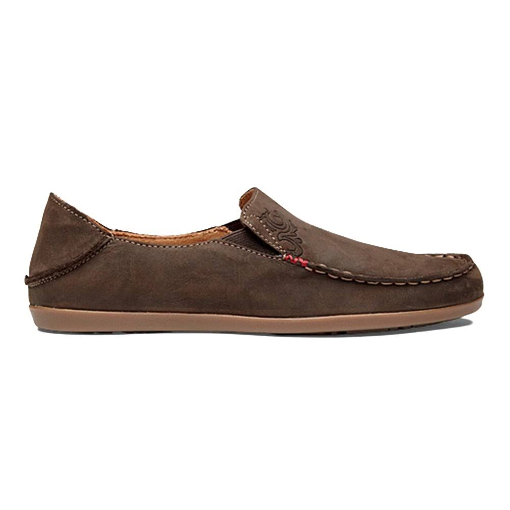 OluKai Womens Nohea Nubuck Shoes - Dark Java/Tan, 7 US