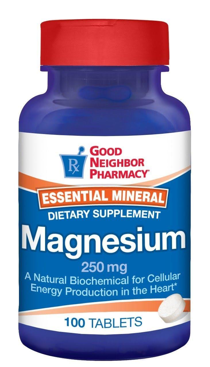GNP Magnesium Tablets 250 mg Dietary Supplement 100 ct