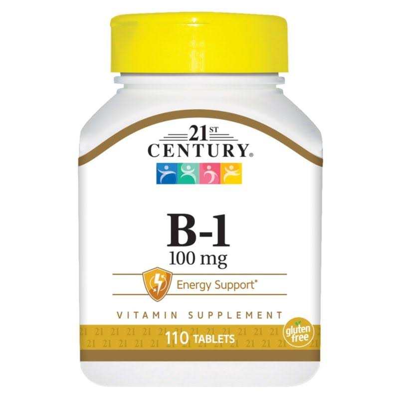 21st Century B-1 Dietary Supplement - 100mg, 110ct