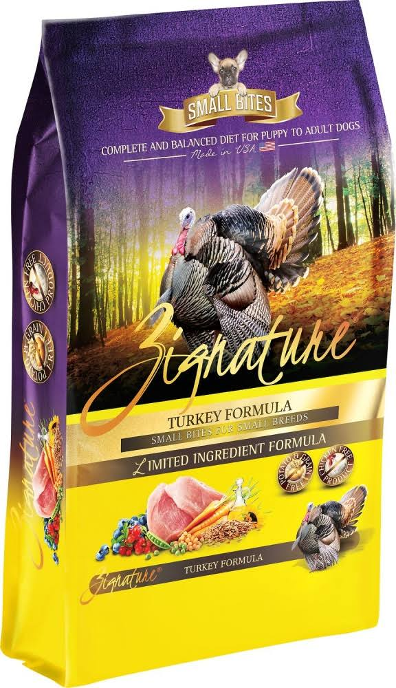 Zignature Small Bites Grain Free Turkey Formula Dry Dog Food - 13.5-lb