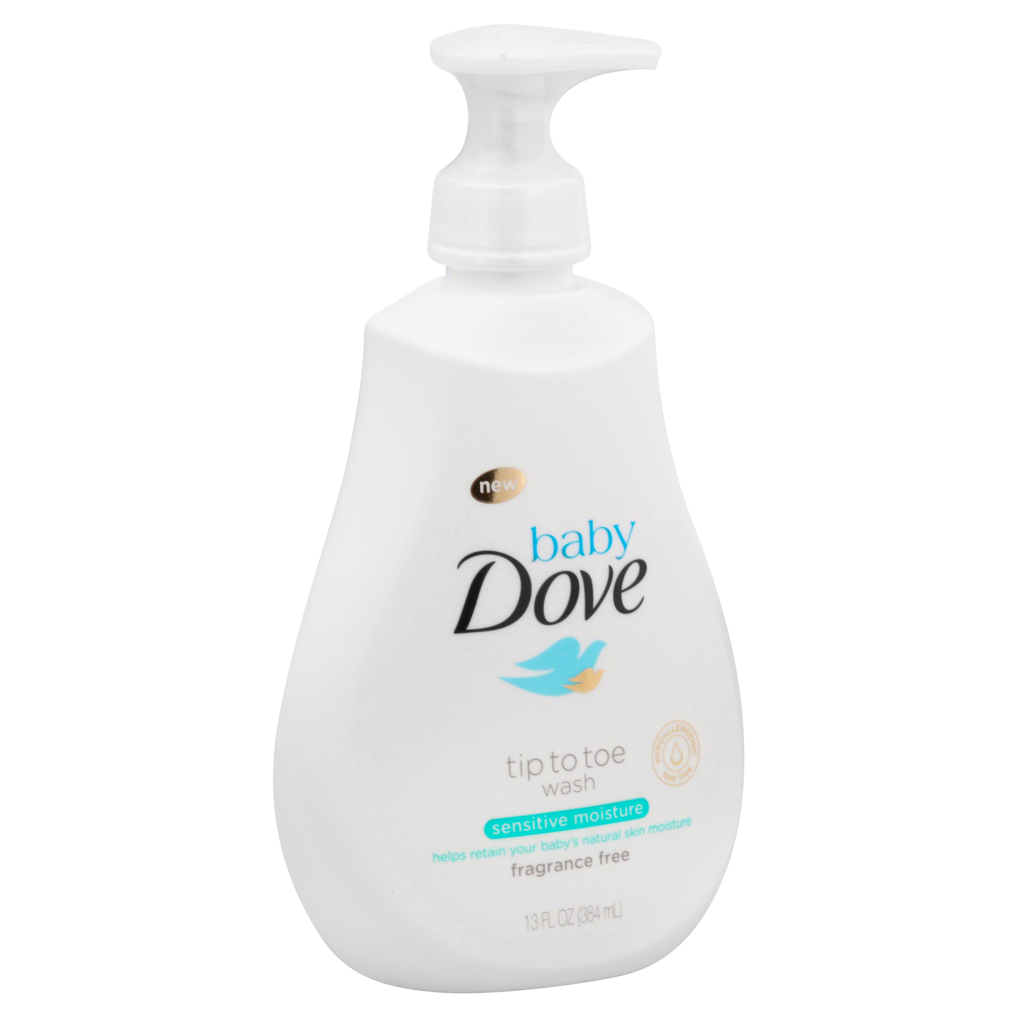 Baby Dove Sensitive Moisture Fragrance Free Tip to Toe Wash - 13 oz