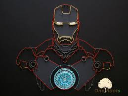 Superhero Bedroom Decor Nz by Iron Man Of String Art For Wall Decor Tony Stark Costume