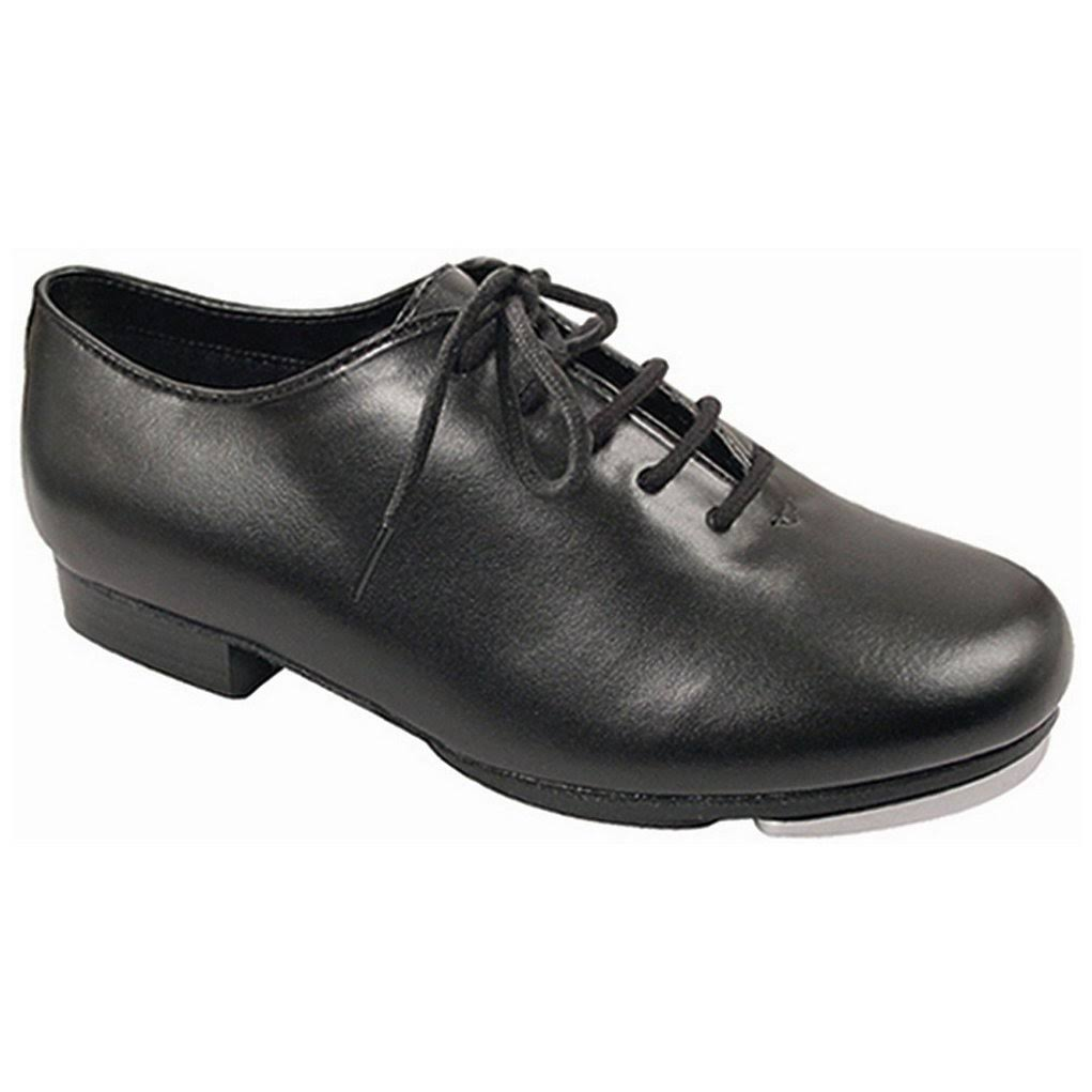 Dance Class Black Leather-Like Upper Lace Up Jazz Tap Oxford Shoes 10.5 Womens