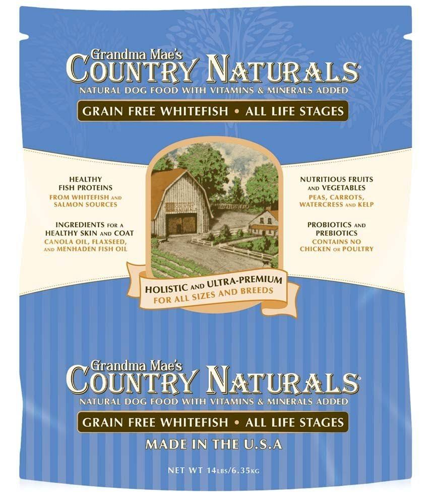 Grandma Mae S Country Nat-Grain Free Dog Food- Whitefish 25 lb