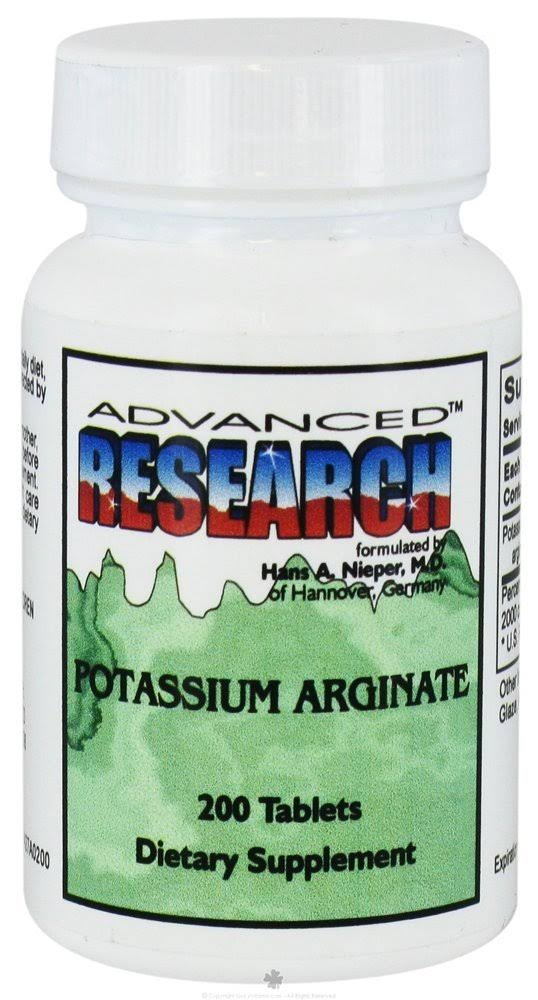 Advanced Research Potassium Arginate Tablets - 200ct