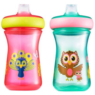 The First Years Sippy Cups, Soft Spout, Spill Proof, 9M+ - 2 pack, 9 oz cups