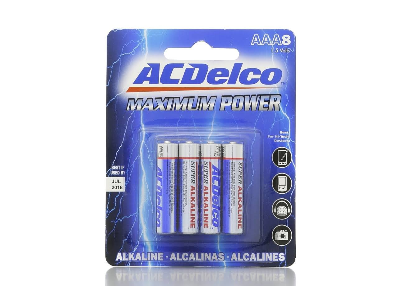 AC Delco Maximum Power AAA Batteries - 8pcs