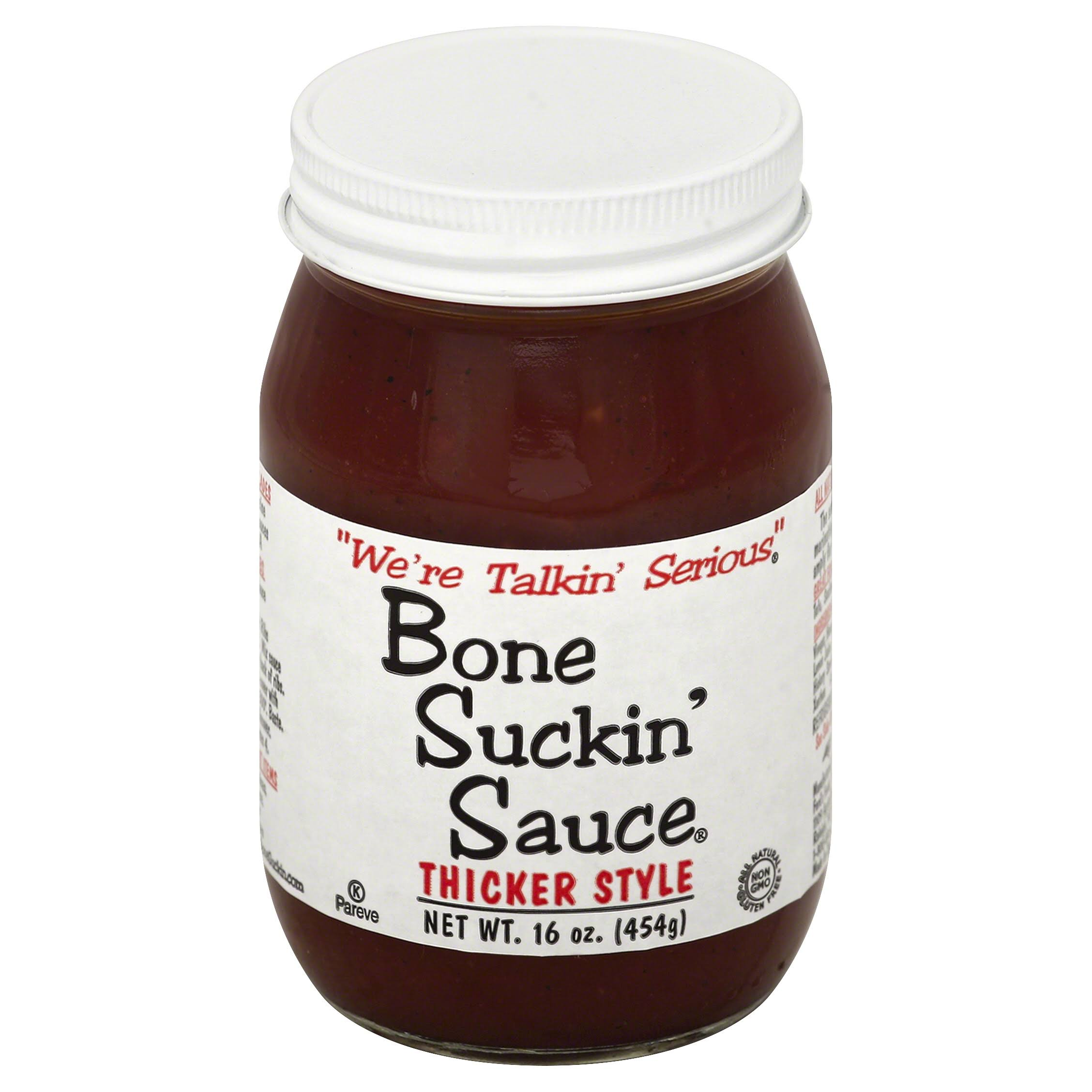 Bone Suckin' Sauce Thicker Style - Barbecue Sauce, 16oz