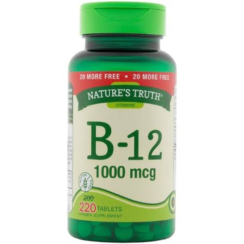 Nature's Truth Vitamin B-12 Tablets, 1,000 mcg, 220 Count