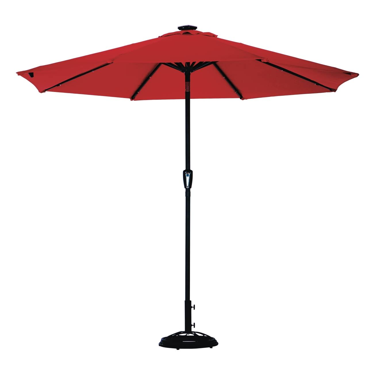 Living Accents 9 ft. Tiltable Red Market Patio Umbrella