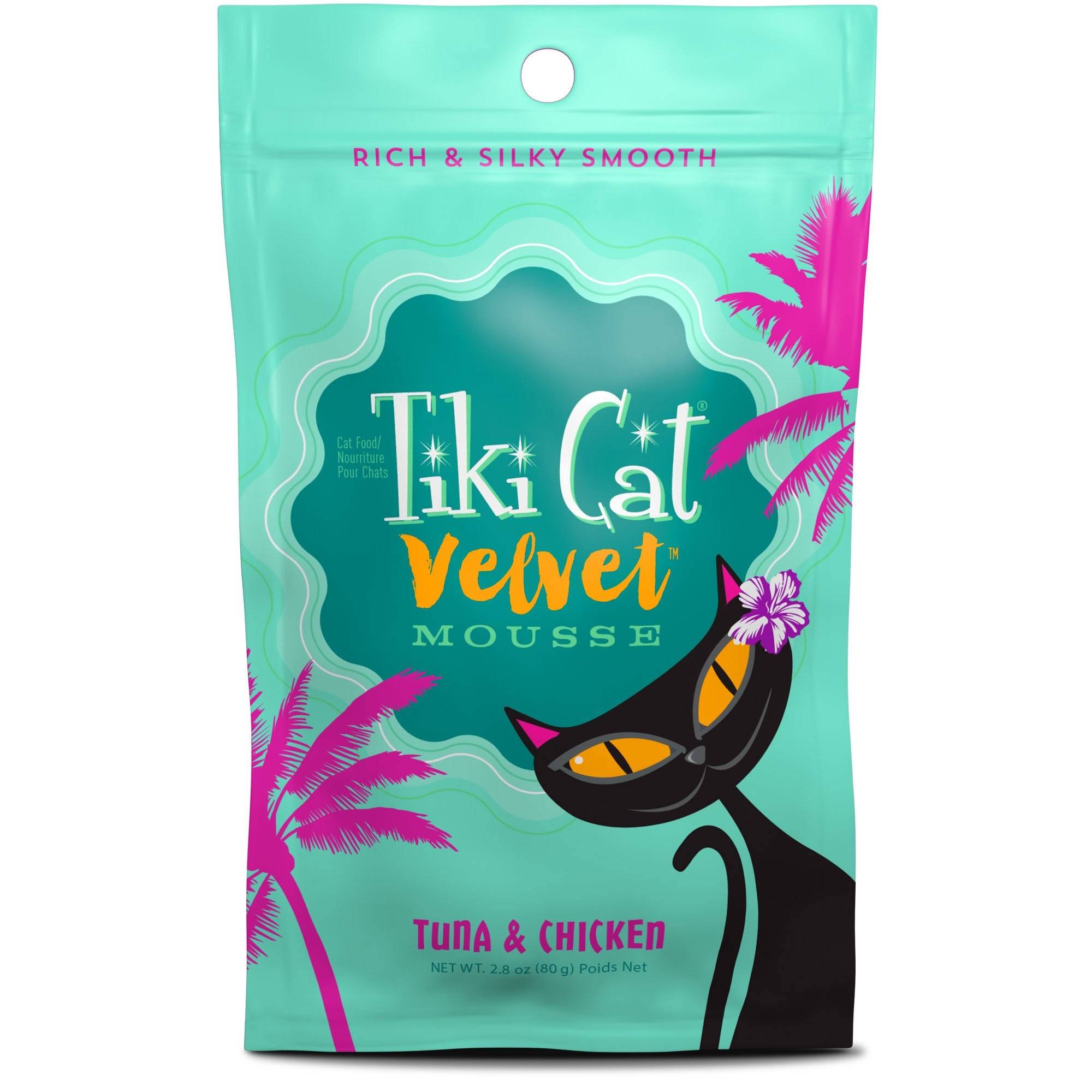 Tiki Cat - Velvet Mousse Cat Food Tuna & Chicken - 2.8 oz.