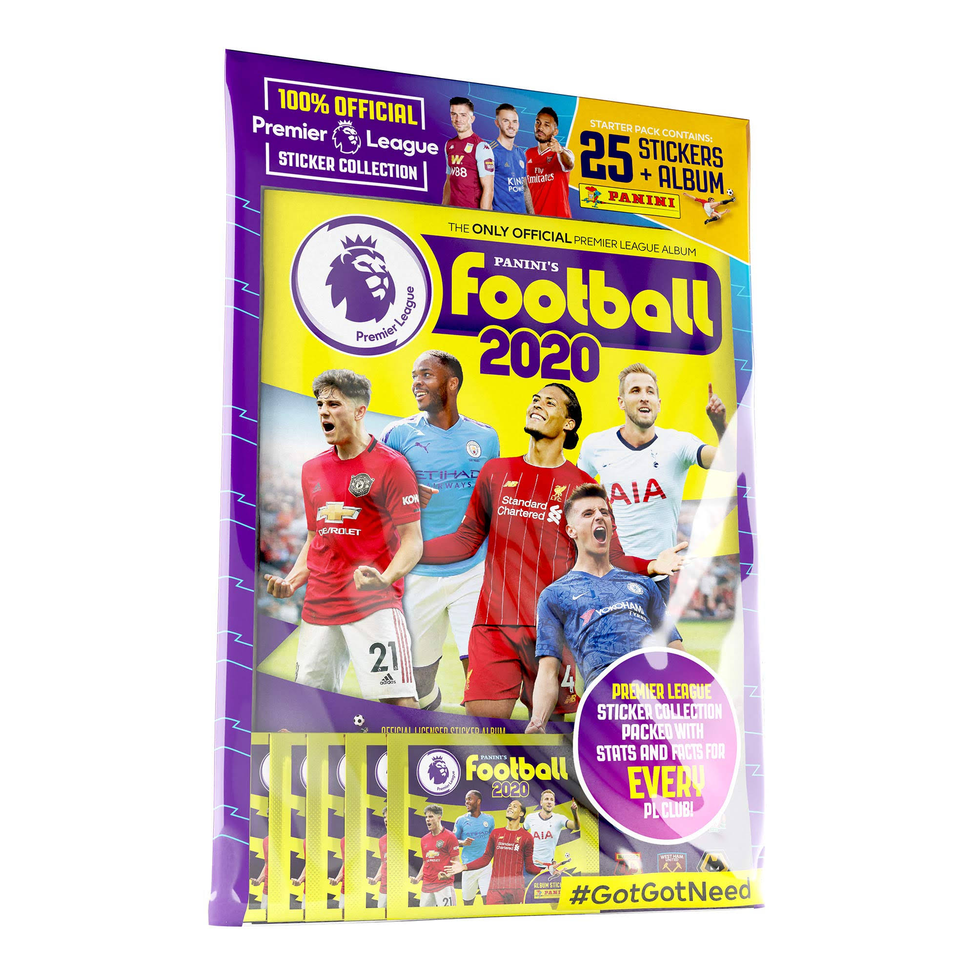 Panini's Football 2020 – The Official Premier League Sticker Collection Starter Pack