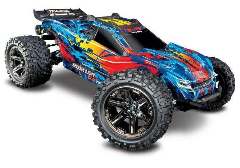 Traxxas Rustler 4x4 VXL Brushless RTR 4wd Stadium Truck RC Model Vehicle Kit - 1:10 Scale