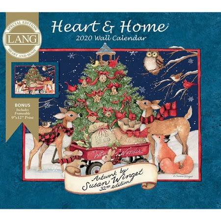 Lang Companies Calendars Heart & Home Special Edition Wall Calendar with Full Color Pages - All Major Holidays