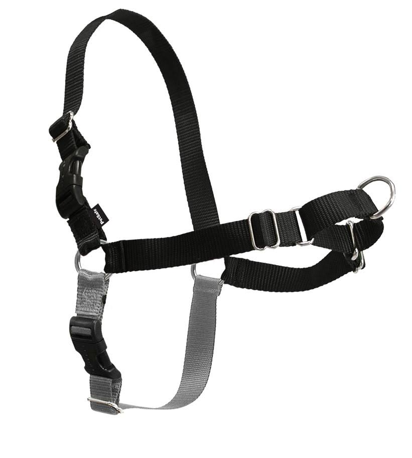 PetSafe Easy Walk Dog Harness - Black/Silver, Large