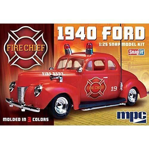 MPC 1940 Ford Fire Chief 1/25 Scale