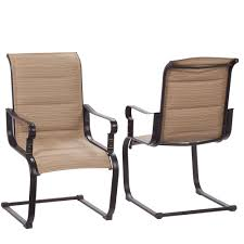 Replace Patio Sling Chair Fabric by Hampton Bay Patio Chairs Patio Furniture The Home Depot