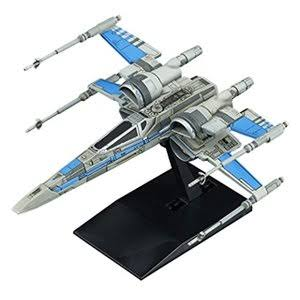 Bandai Star Wars Vehicle Model 011 Blue Squadron Resistacce X-Wing Fighter Model