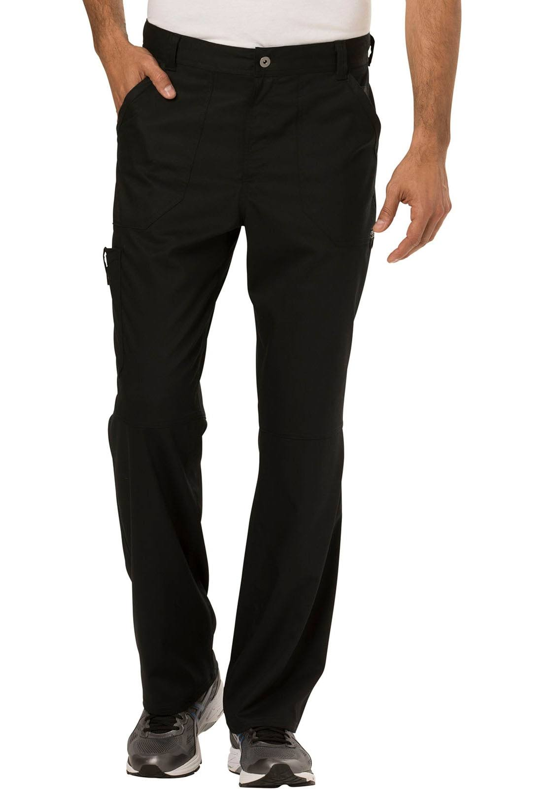 Cherokee Workwear WW140S Men's Fly Front Pant - Black - XL