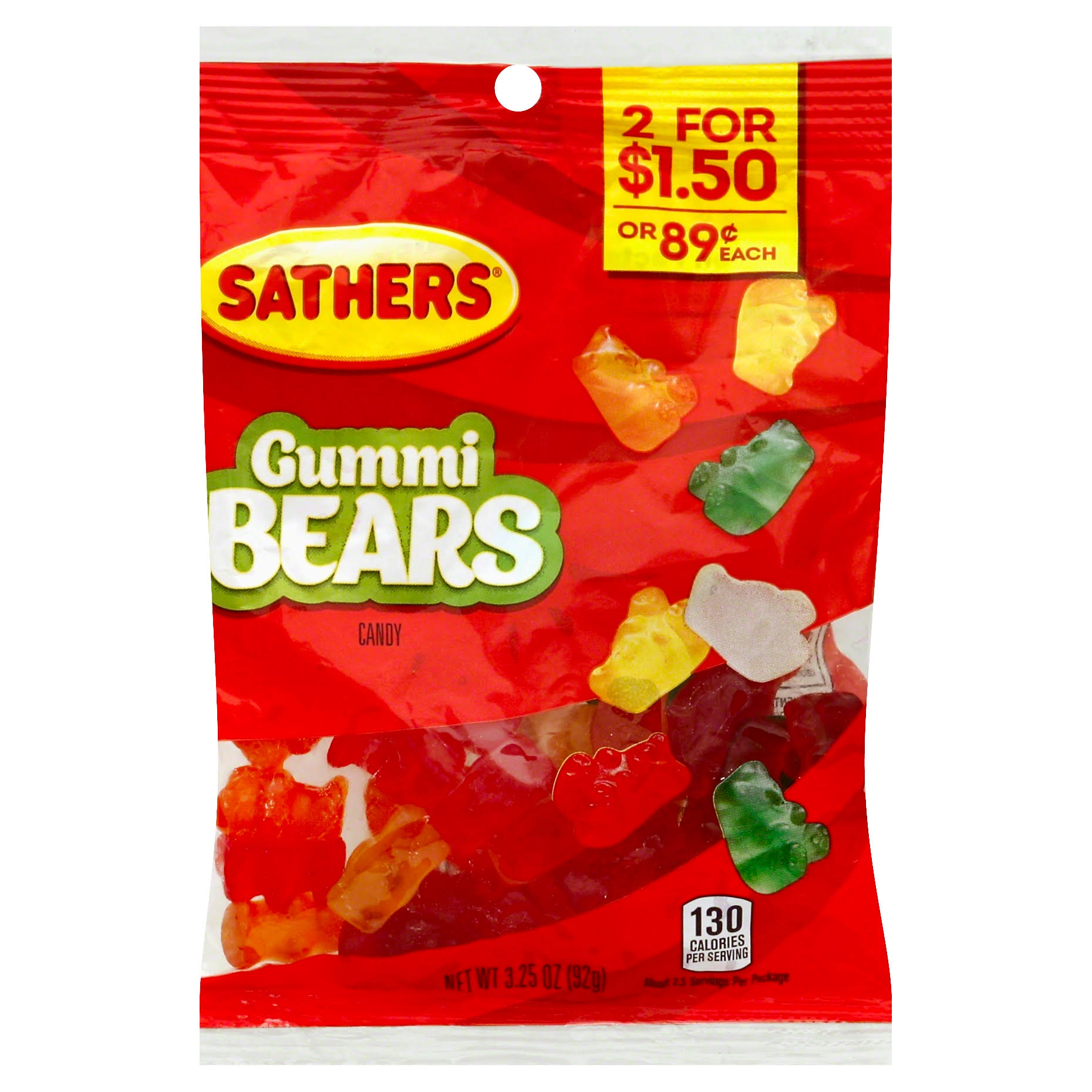 Sathers Gummy Bears Candy - 92g