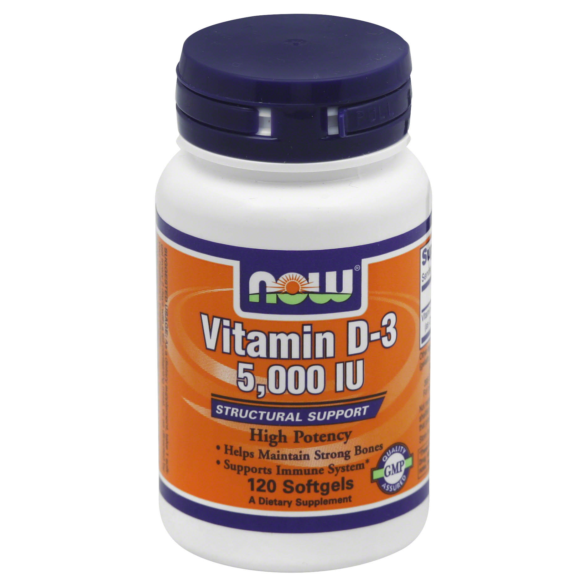 Now Foods Vitamin D-3 5000 IU - 120 Softgels
