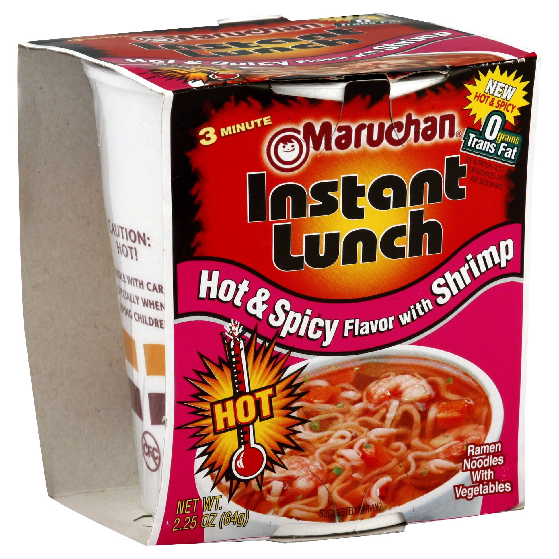 Maruchan Instant Lunch Ramen Noodle Soup - Hot and Spicy Flavor with Shrimp, 2.25oz