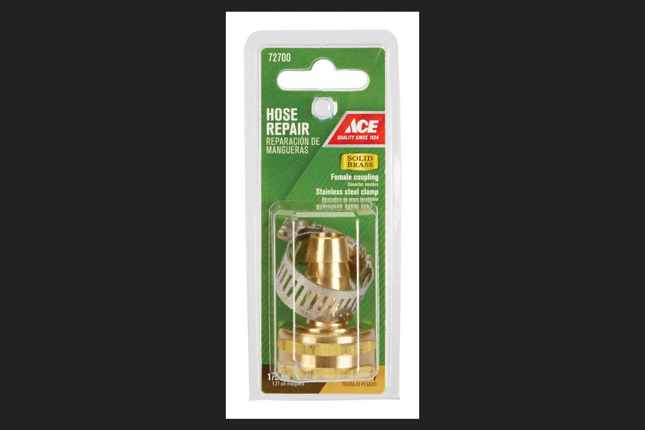 Ace 1/2 in. Hose Barb x 3/4 in. FHT Brass Hose Repair Female Threaded