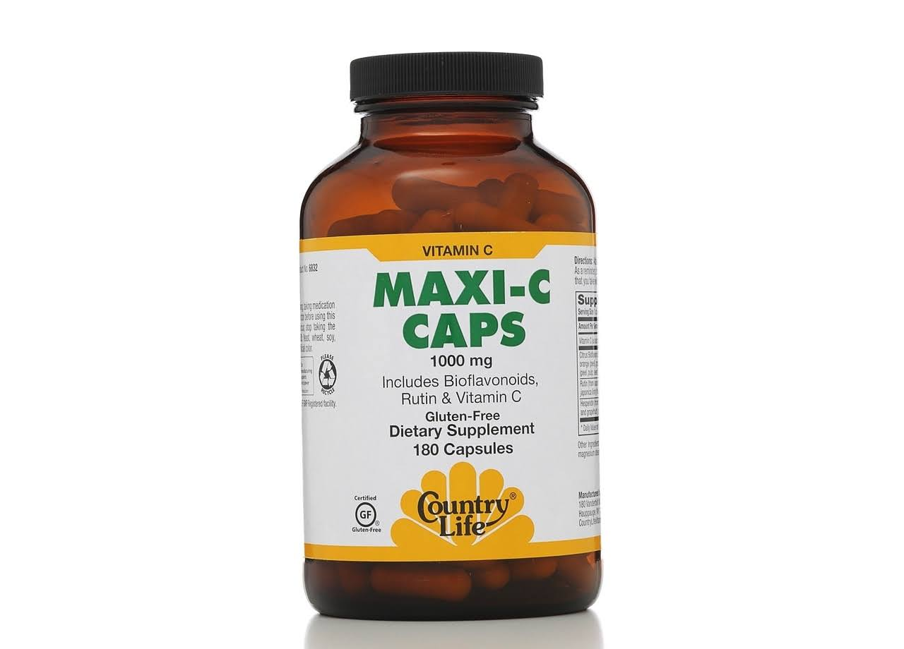 Country Life Maxi-C Caps - 1000mg, 180 Capsules