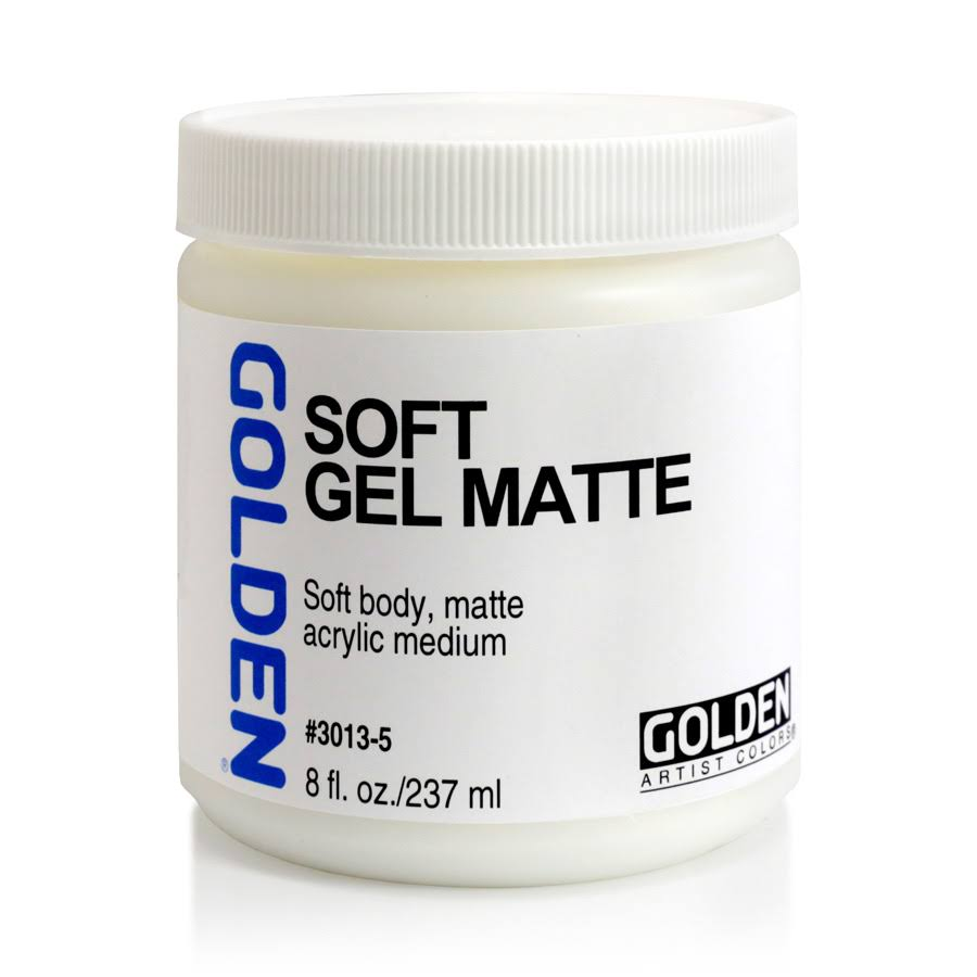 Golden Medium Soft Matte Gel - 8 Oz