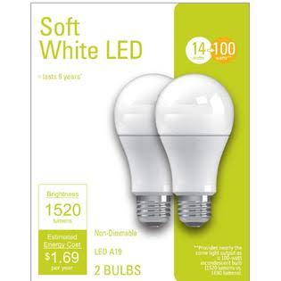 G E Lighting 32593 LED Bulb 13W, A21 Soft Light, White