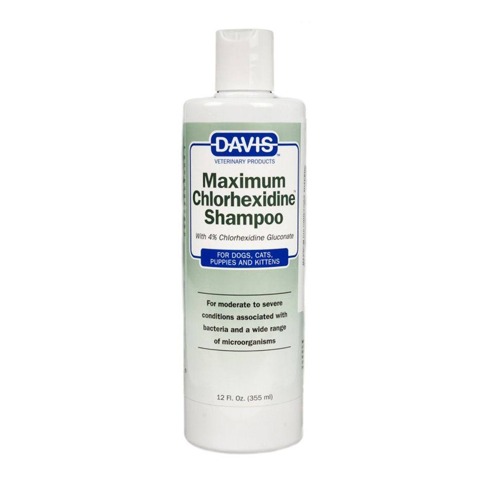 Davis Maximum Chlorhexidine Pet Shampoo, 12 oz