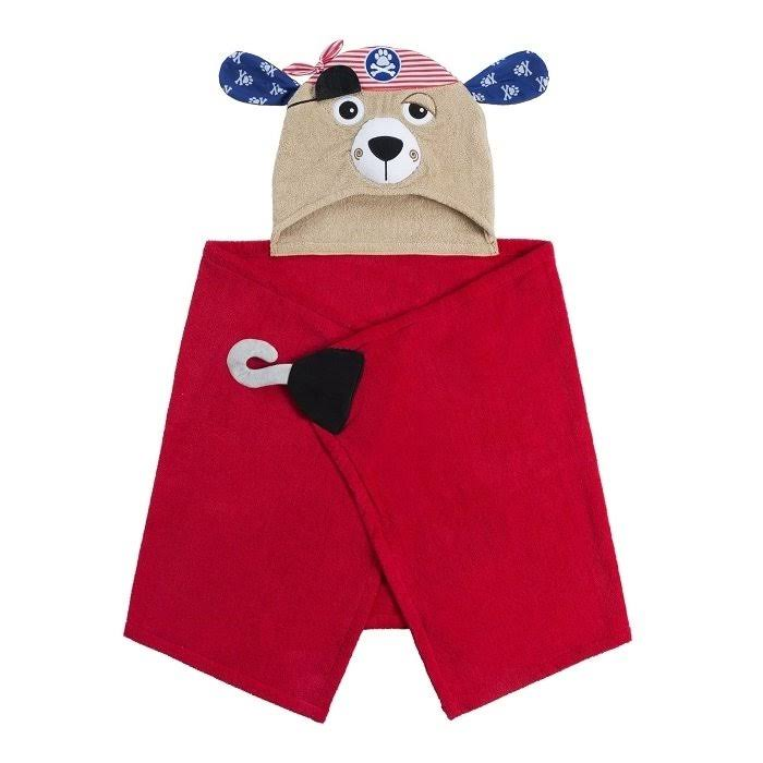 Zoocchini Pirate Dog Hooded Towel