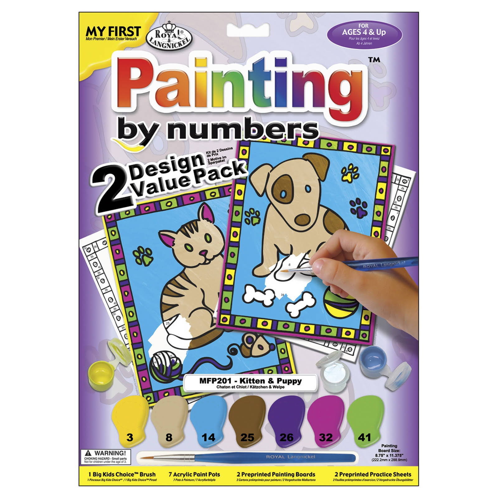 "Royal Brush My First Paint by Number Kit - 8.75"" x 11.375"", 2pk"